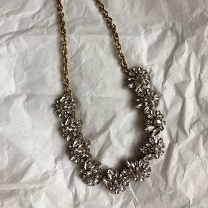 J Crew rhinestone necklace on gold chain